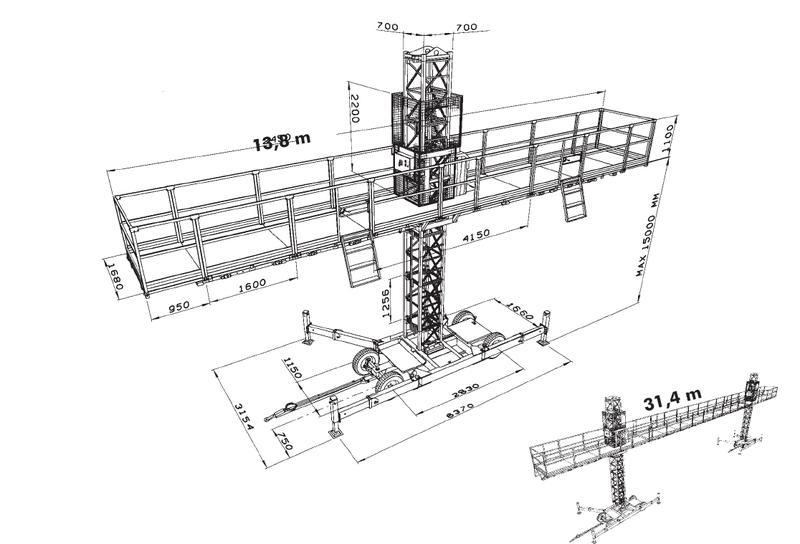 Одномачтовая платформа Scanclimber SC 4000